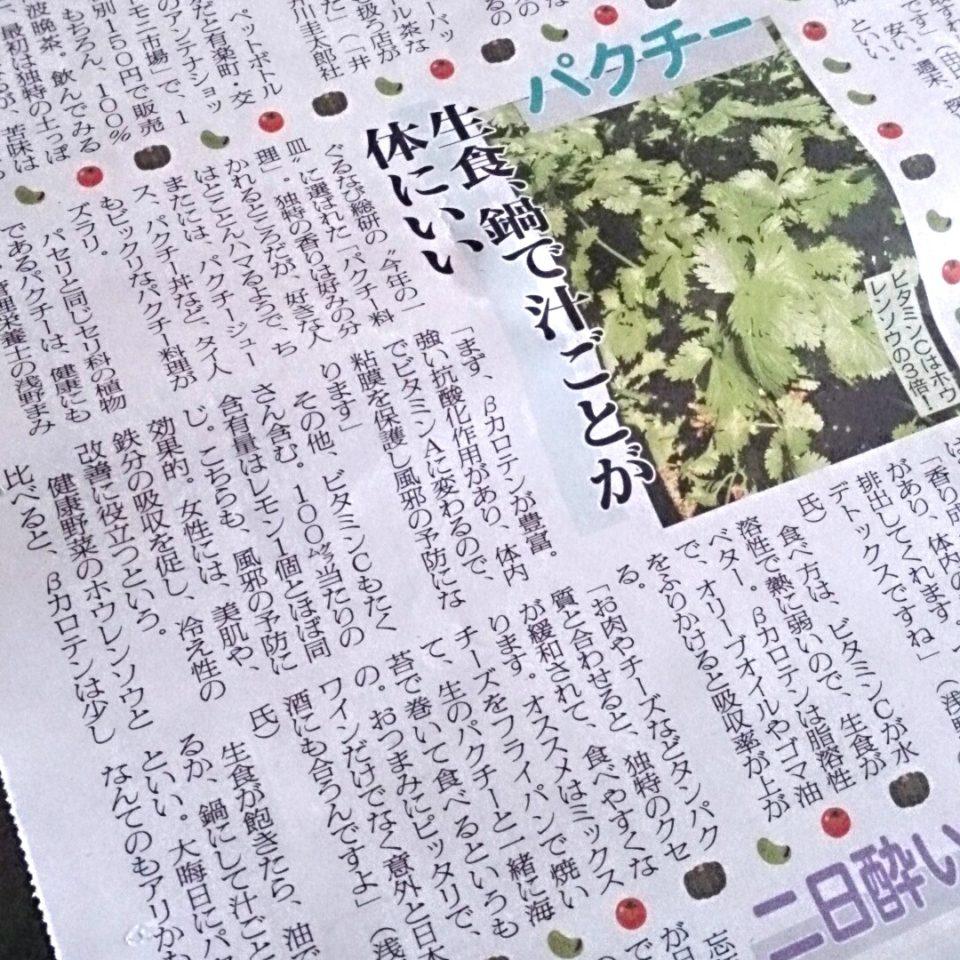 日刊ゲンダイ パクチー